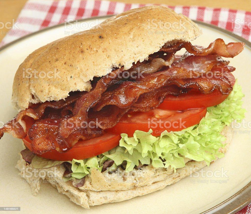Bacon, Lettuce & Tomato Roll stock photo