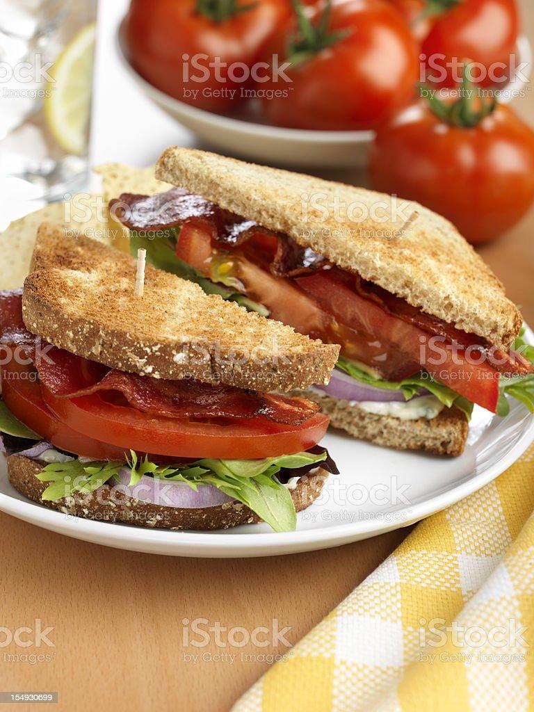 BLT, Bacon Lettuce Tomato Sandwich stock photo