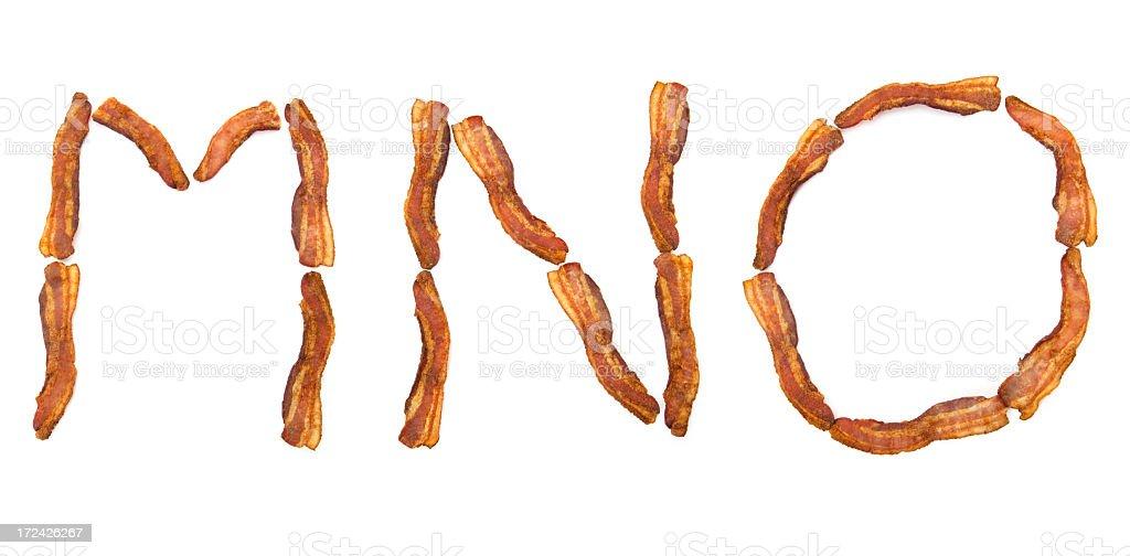 Bacon MNO royalty-free stock photo