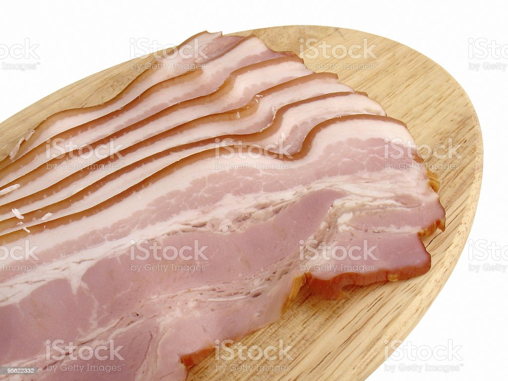 bacon on board royalty-free stock photo