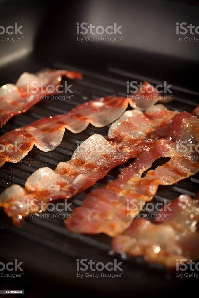 Bacon on The Grill stock photo