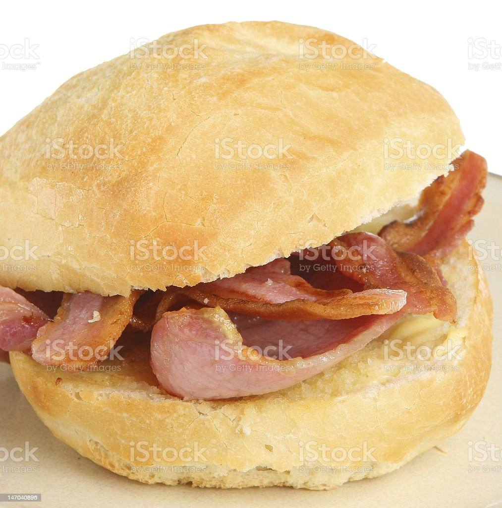 Bacon Roll Sandwich royalty-free stock photo