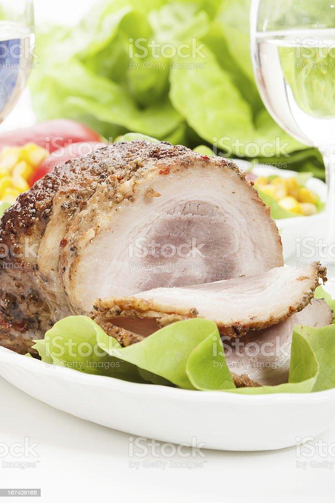 Bacon roulade stock photo