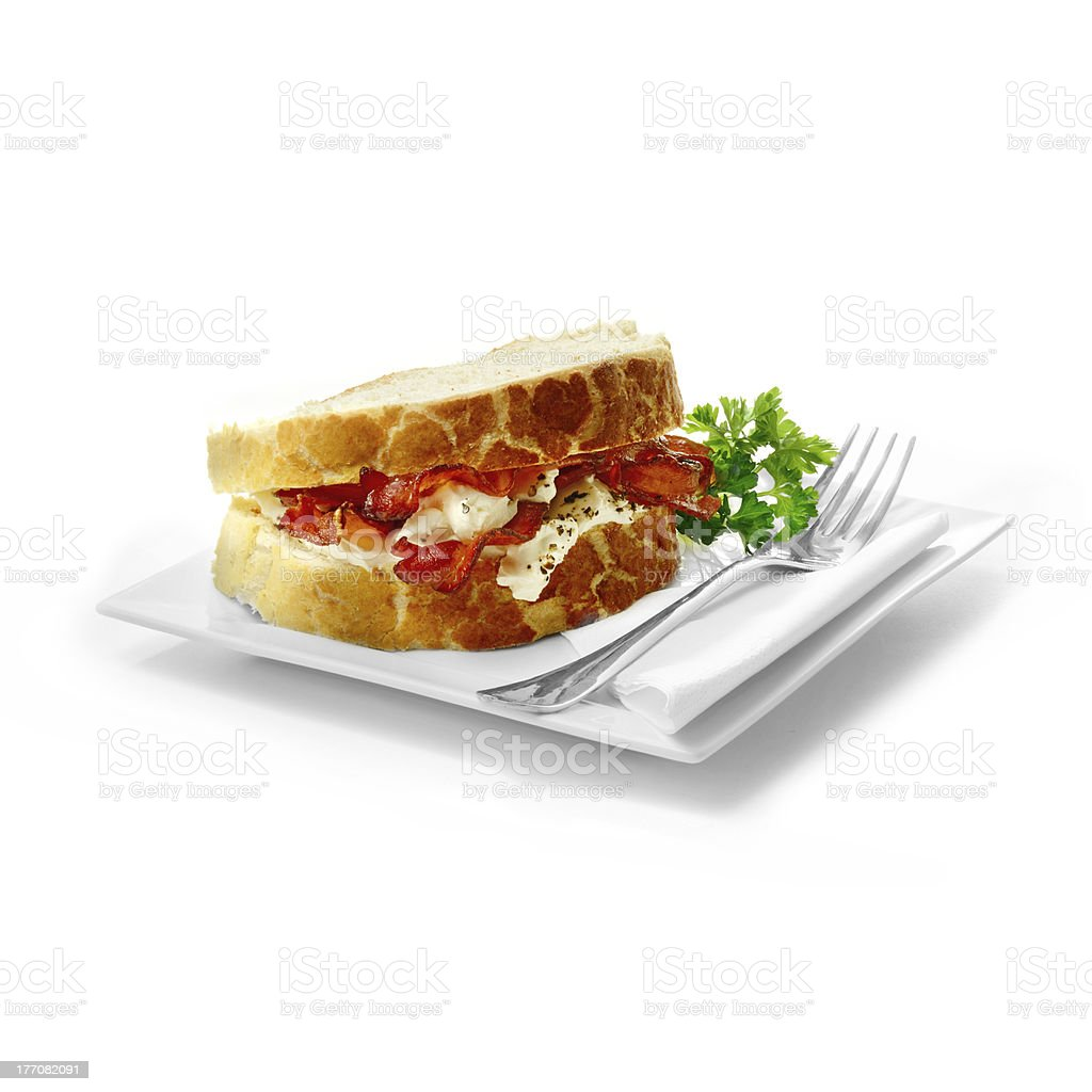 Bacon Sandwich royalty-free stock photo