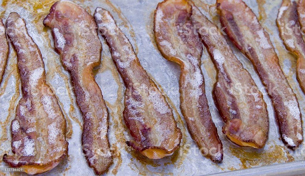 Bacon Sizzling! stock photo
