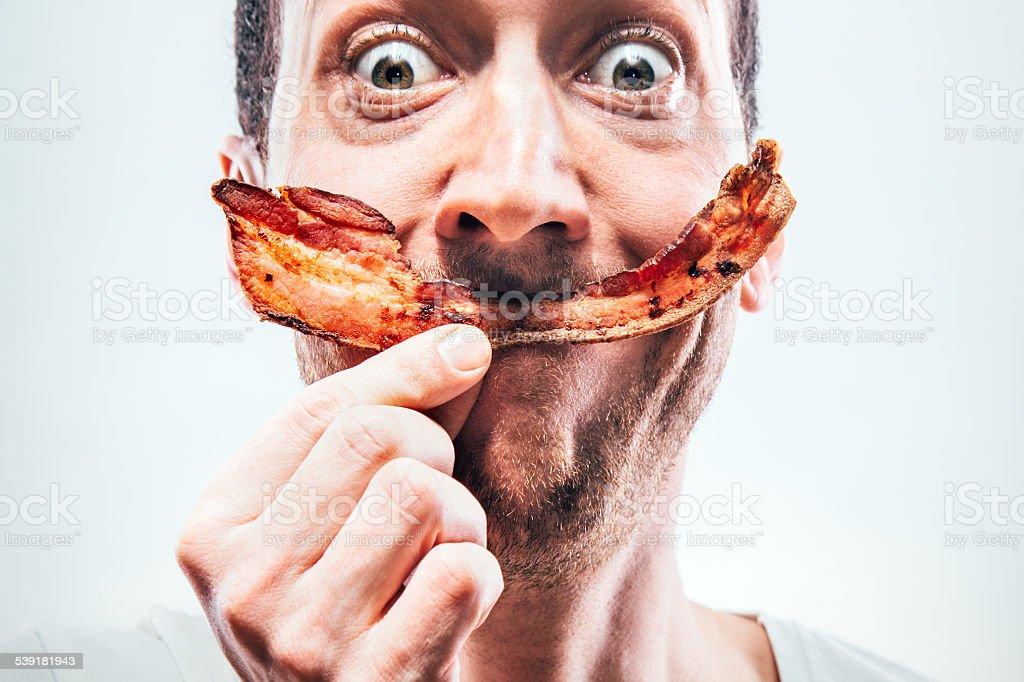 Bacon Smile stock photo