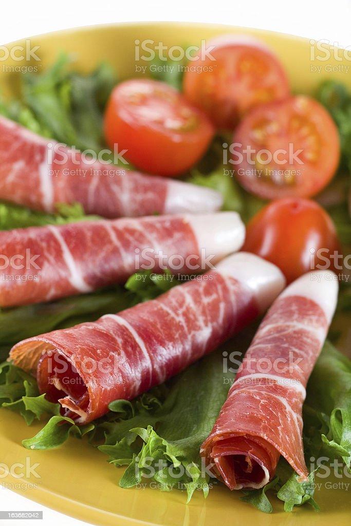 Bacon snack royalty-free stock photo