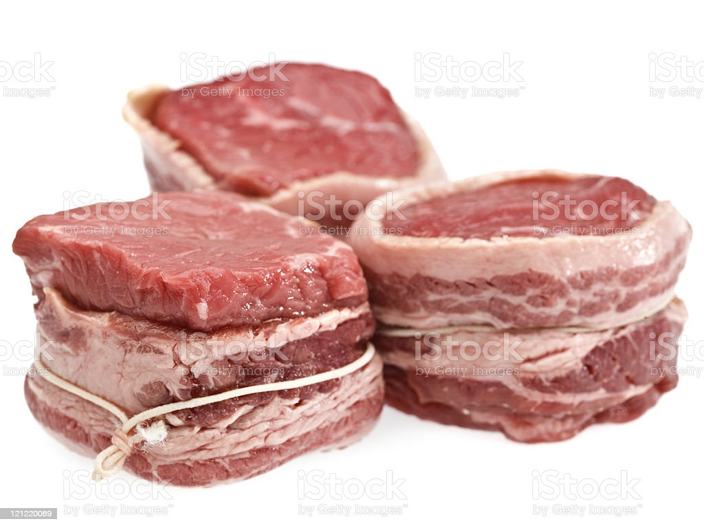 Bacon Wrapped Beef Medallions royalty-free stock photo