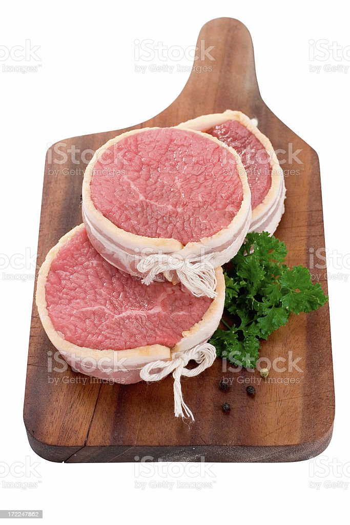 Bacon Wrapped Filet Mignon royalty-free stock photo