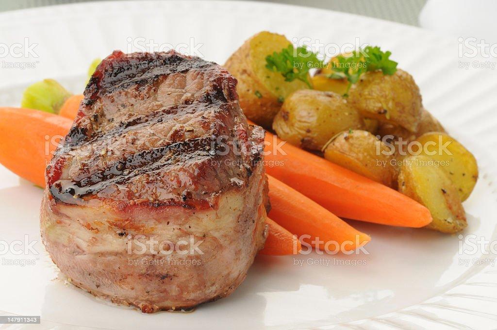 Bacon Wrapped Filet royalty-free stock photo