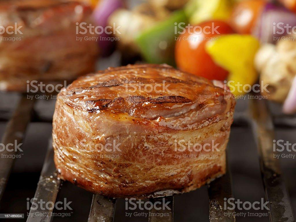 Bacon Wrapped Steak royalty-free stock photo