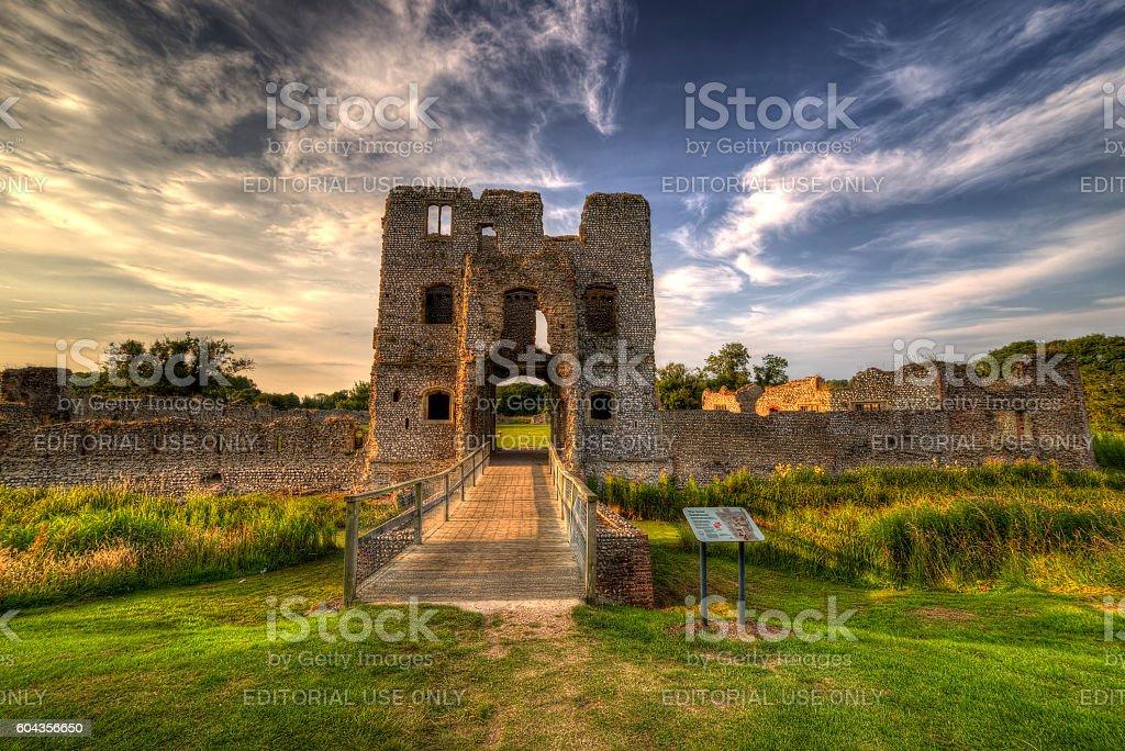 Baconsthorpe Castle stock photo
