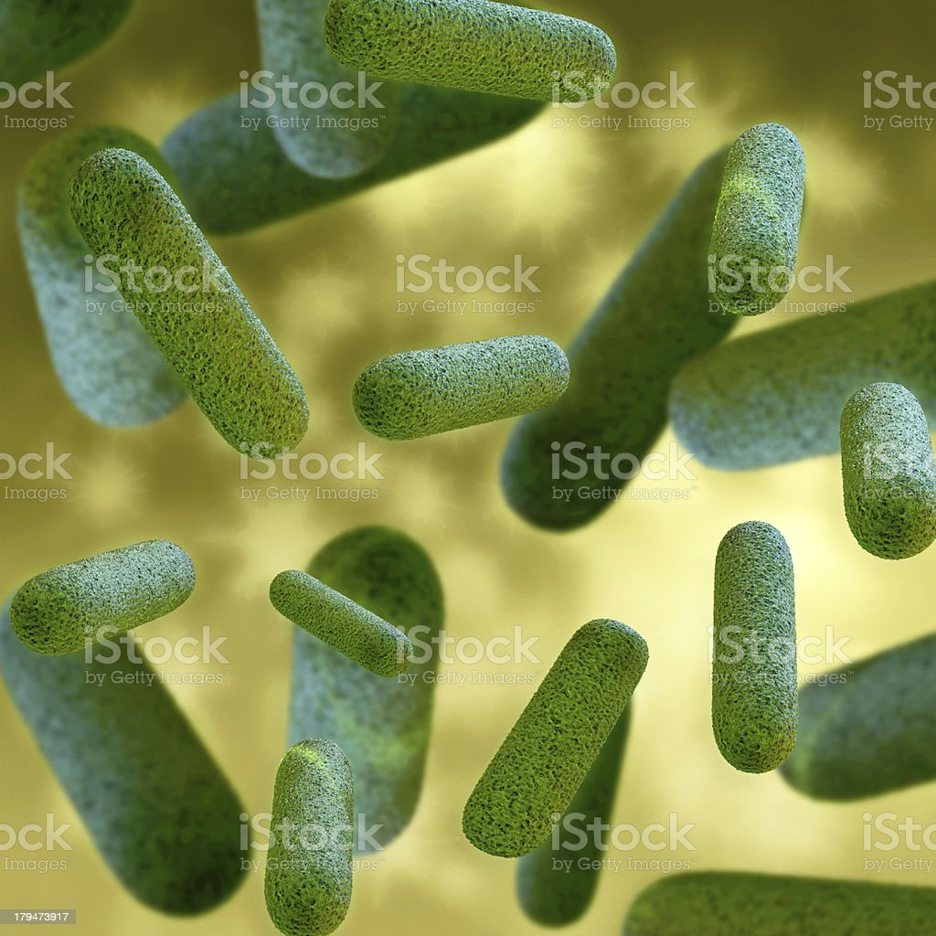Bacteria - 3d rendered illustration royalty-free stock photo