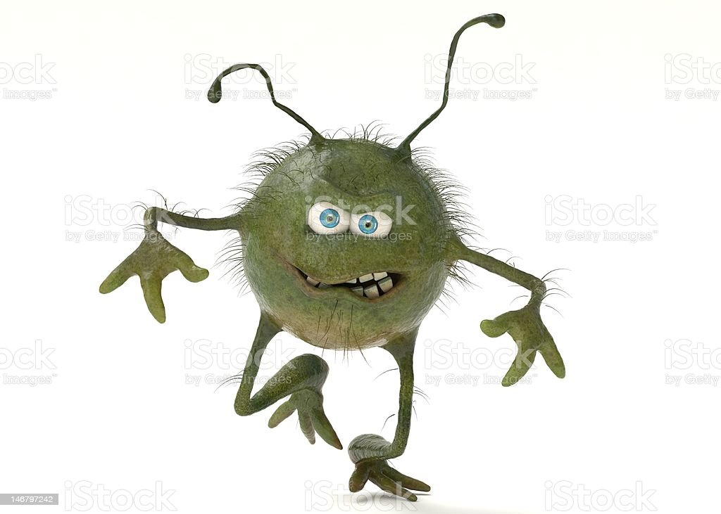 Bacteria Character royalty-free stock photo
