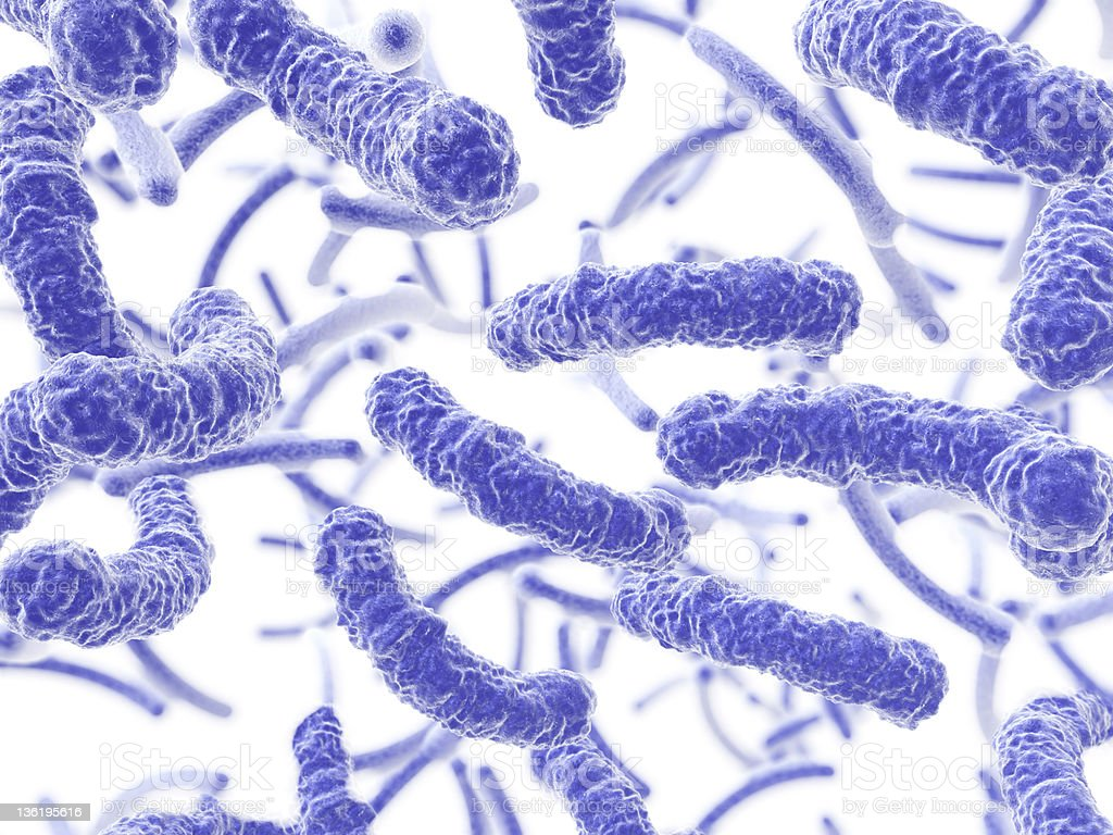 Bacteria flowing royalty-free stock photo