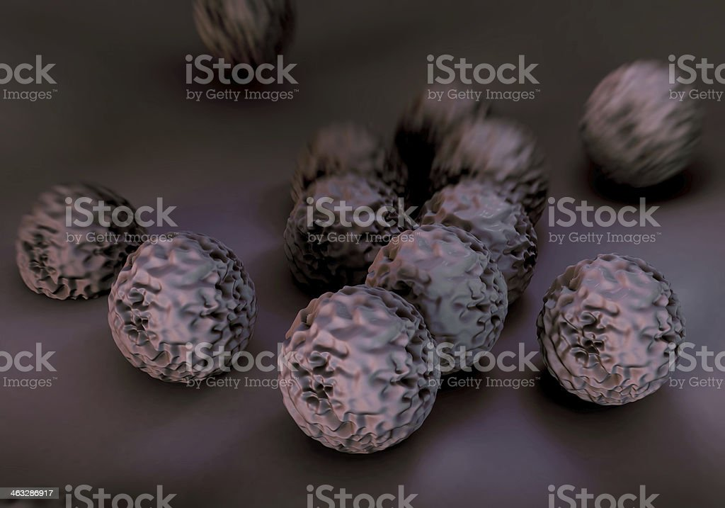 MRSA bacteria or superbug royalty-free stock photo