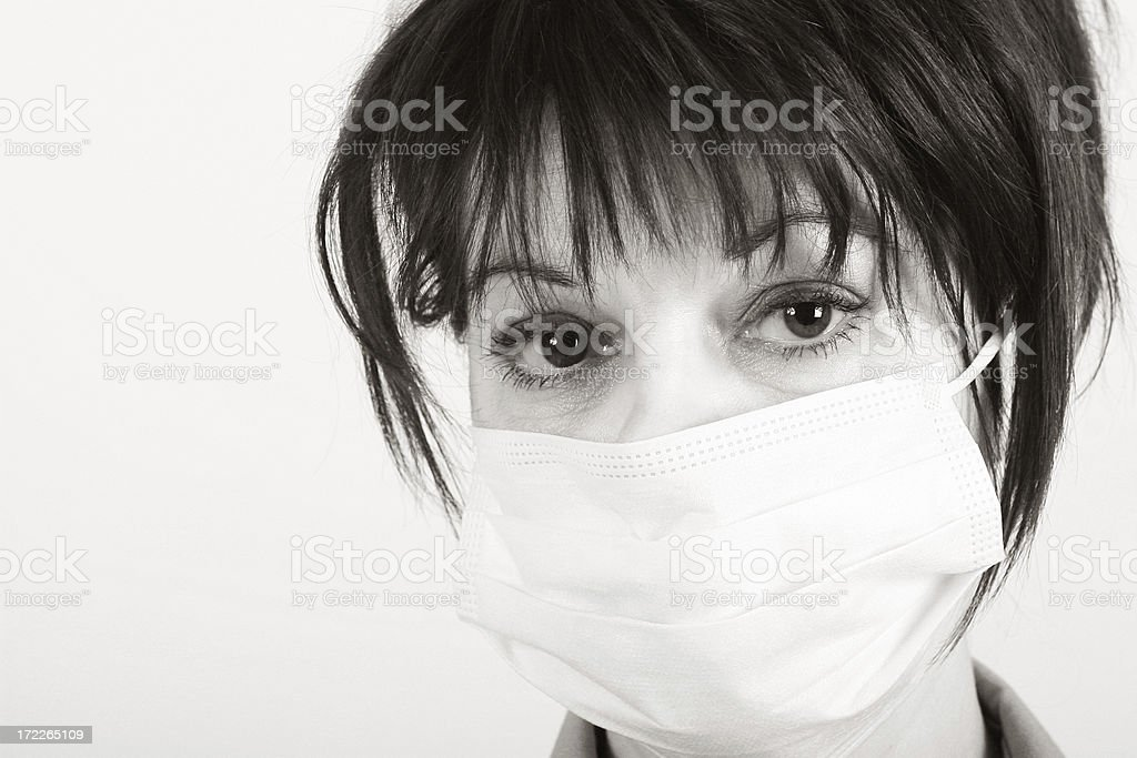 Bacteria phobia! royalty-free stock photo