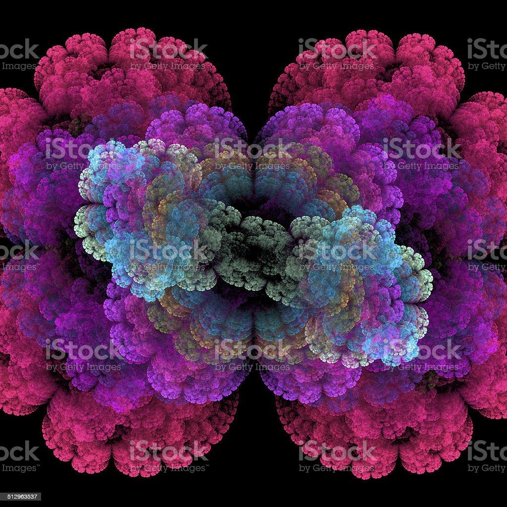 Bacteria under microscope stock photo
