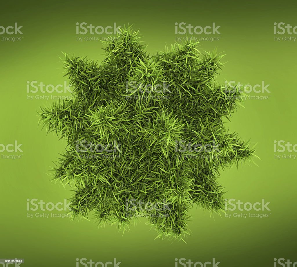 Bacteria, virus or phage 3d conception stock photo