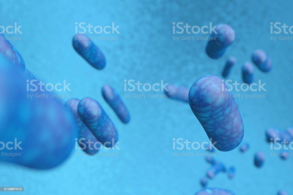 Bacteria virus stock photo