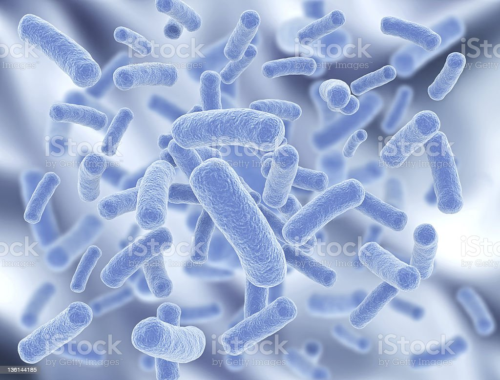 Bacteria with selective focus stock photo