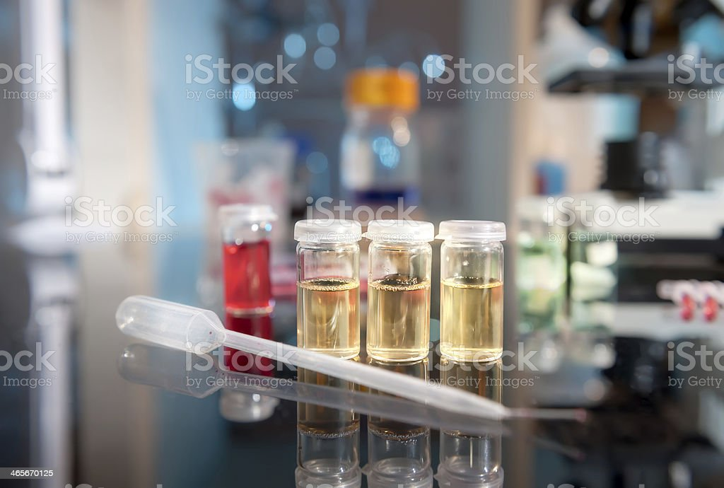 Bacterial culture samples stock photo