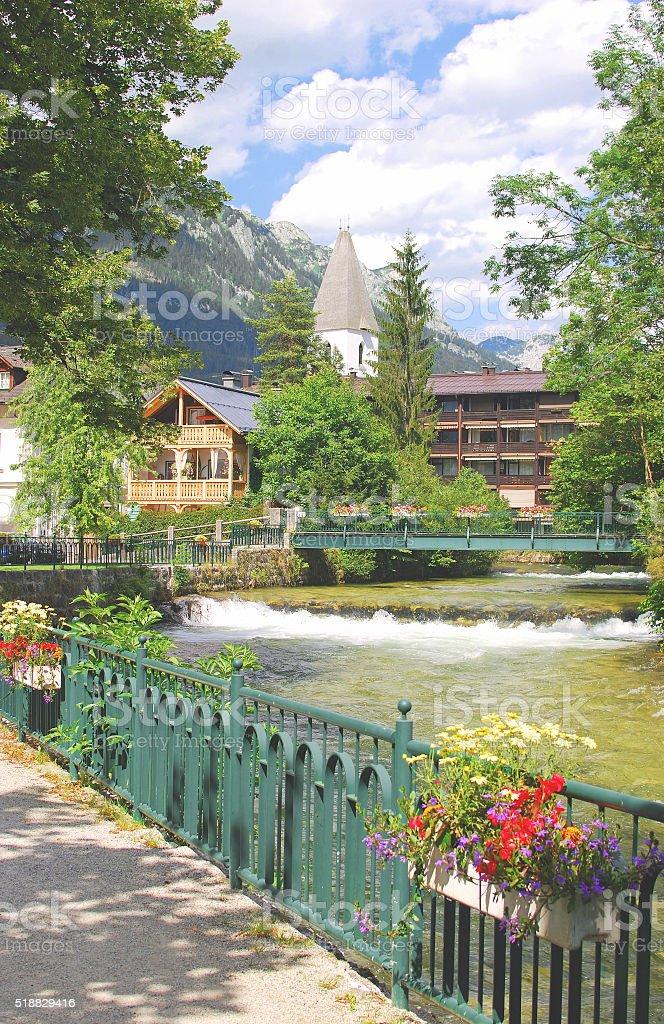 Bad Aussee,Styria,Austria stock photo