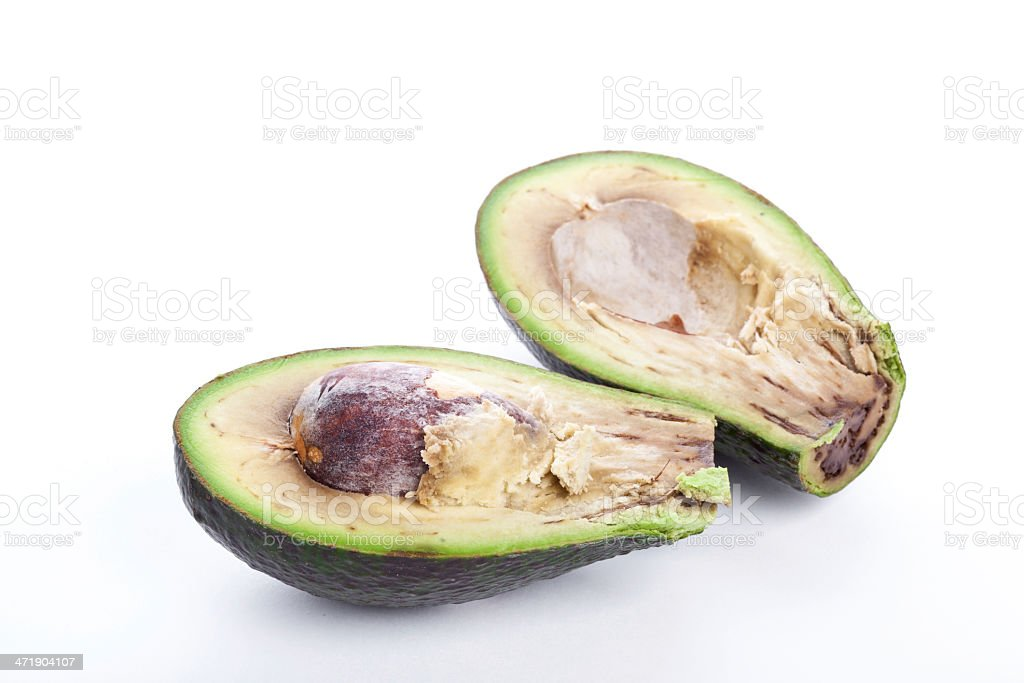 Bad avacado royalty-free stock photo
