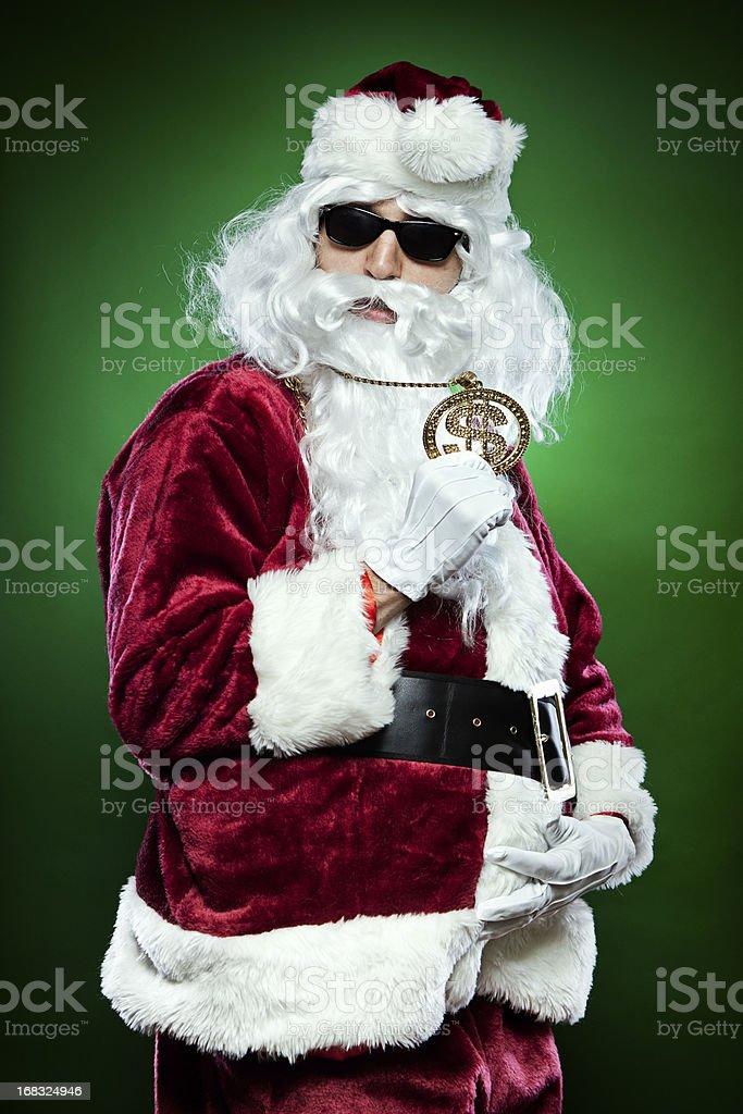 Bad Bling Santa Claus royalty-free stock photo