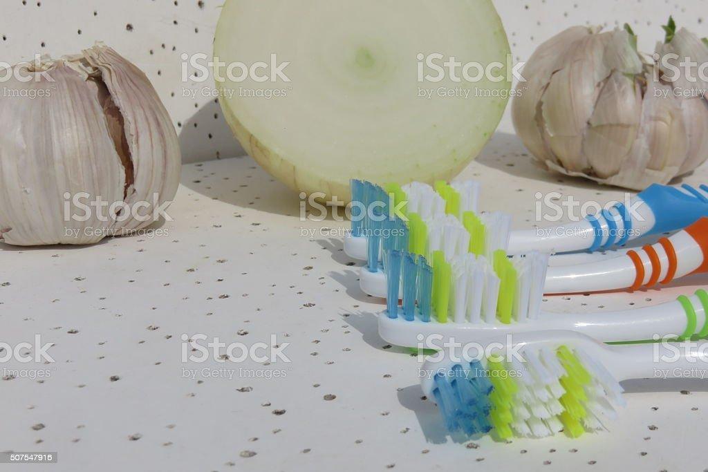 Bad breath concept stock photo
