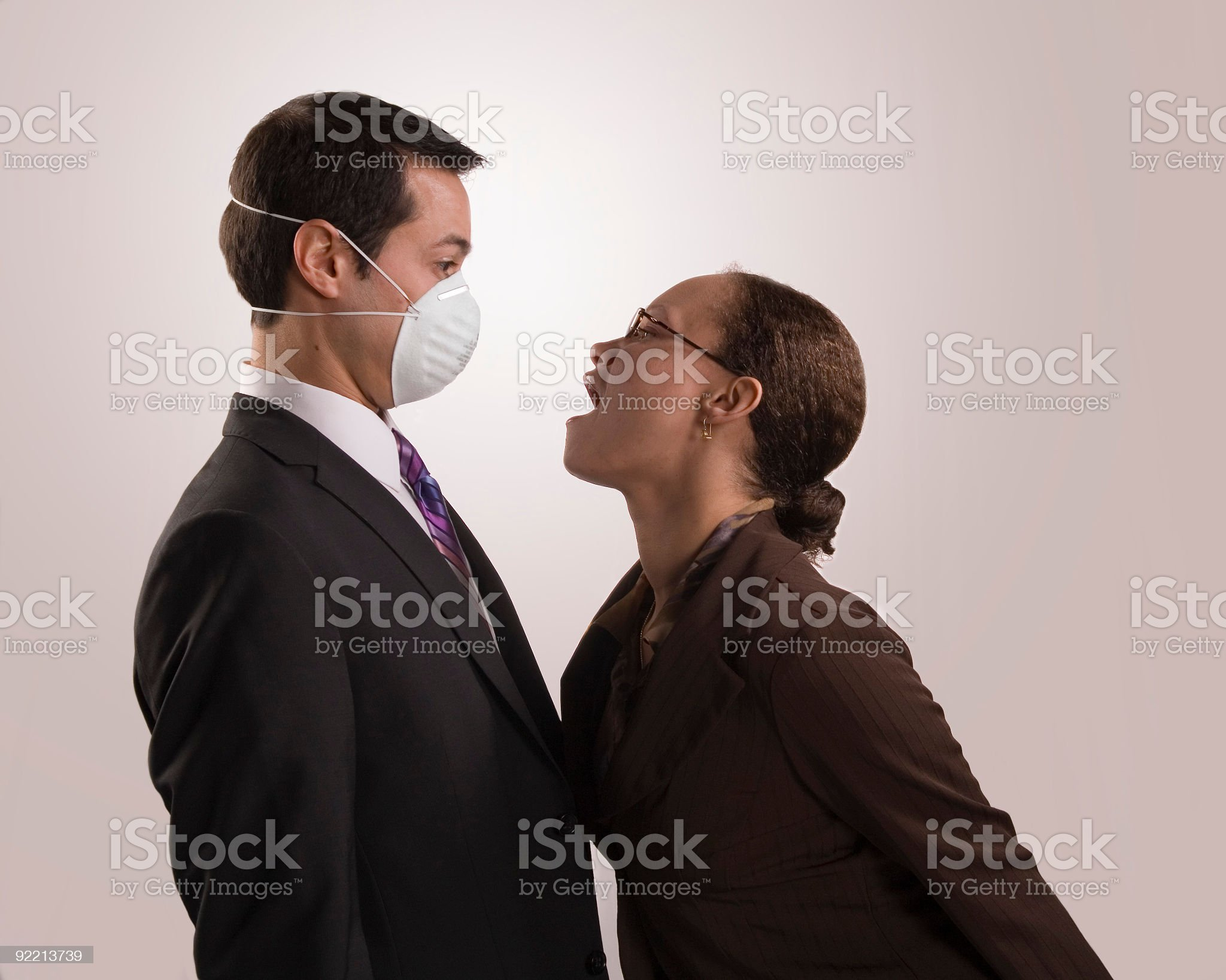 Bad Breath Experience royalty-free stock photo