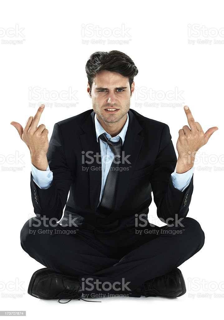 Bad businessman royalty-free stock photo