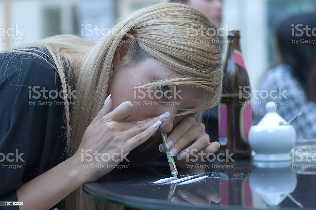 Bad cocaine stock photo