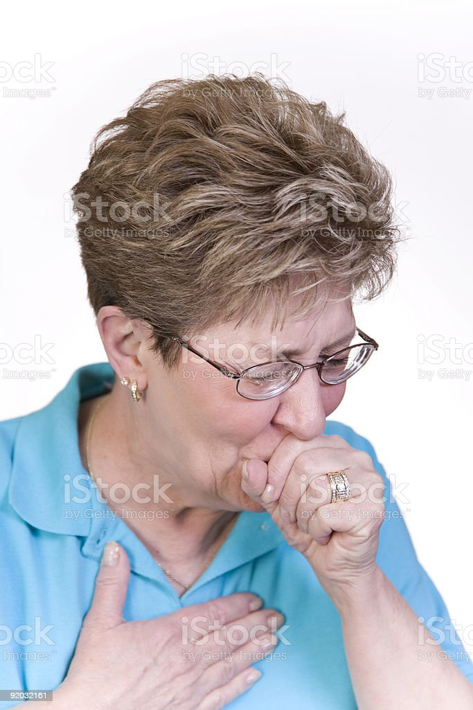Bad Cough stock photo