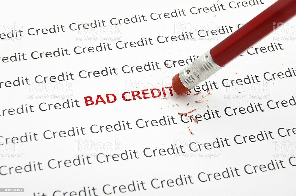 Bad Credit royalty-free stock photo