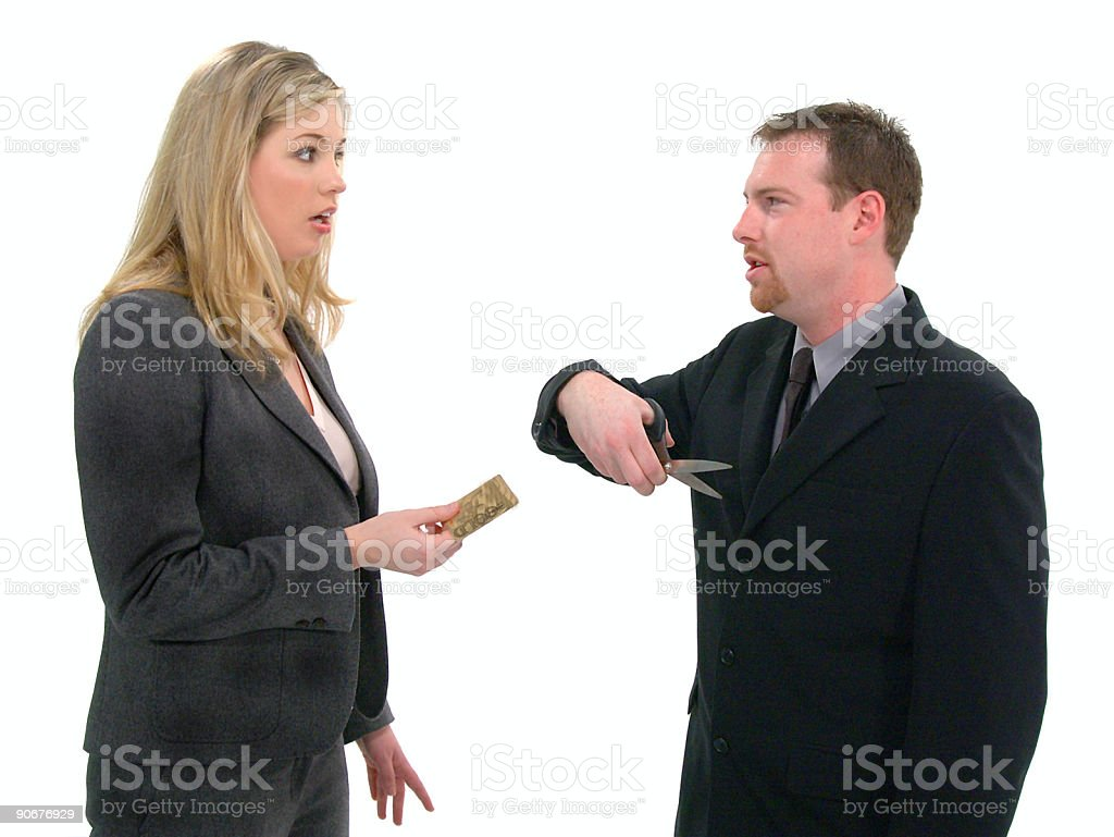Bad Credit royalty-free stock photo