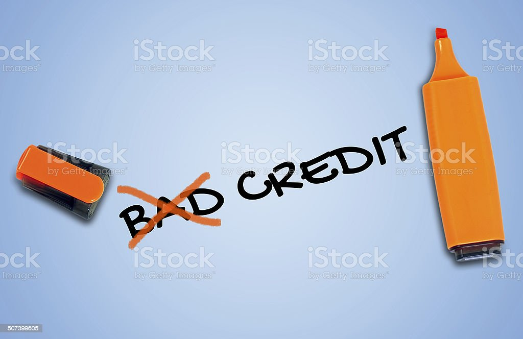Bad credit word stock photo