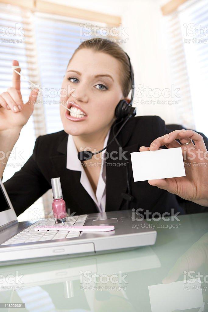 Bad customer service royalty-free stock photo