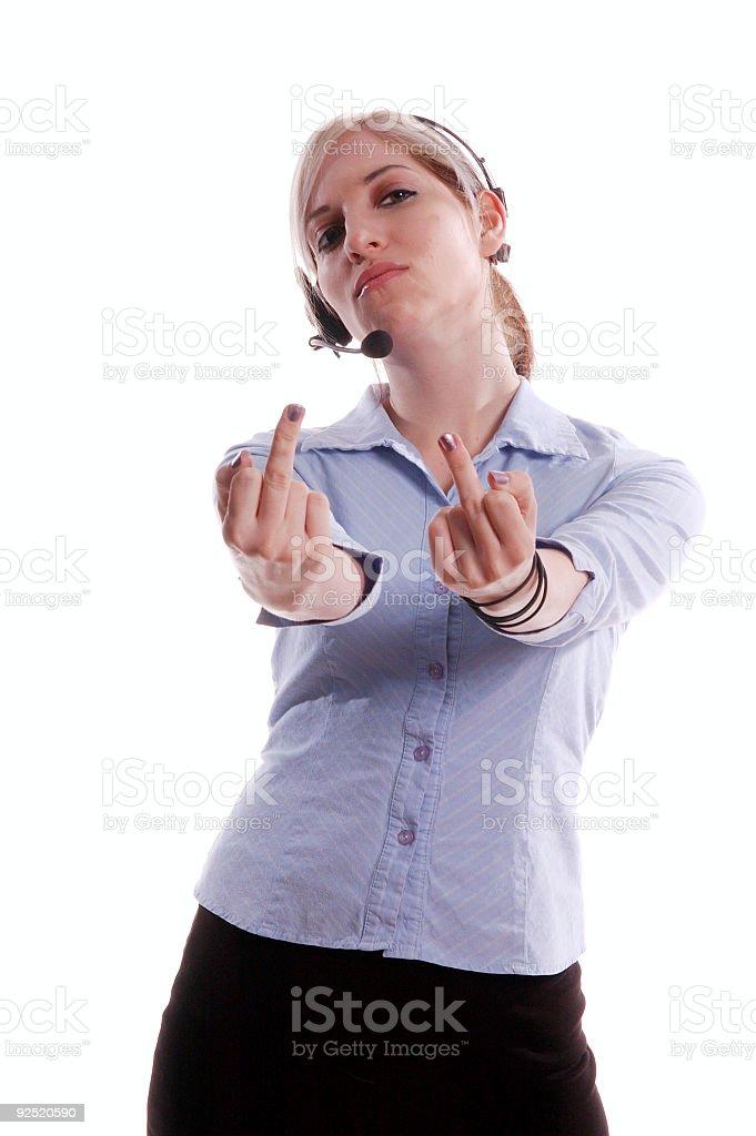Bad Customer Services royalty-free stock photo
