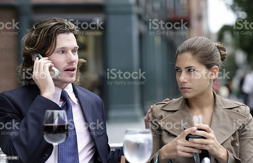Bad date royalty-free stock photo