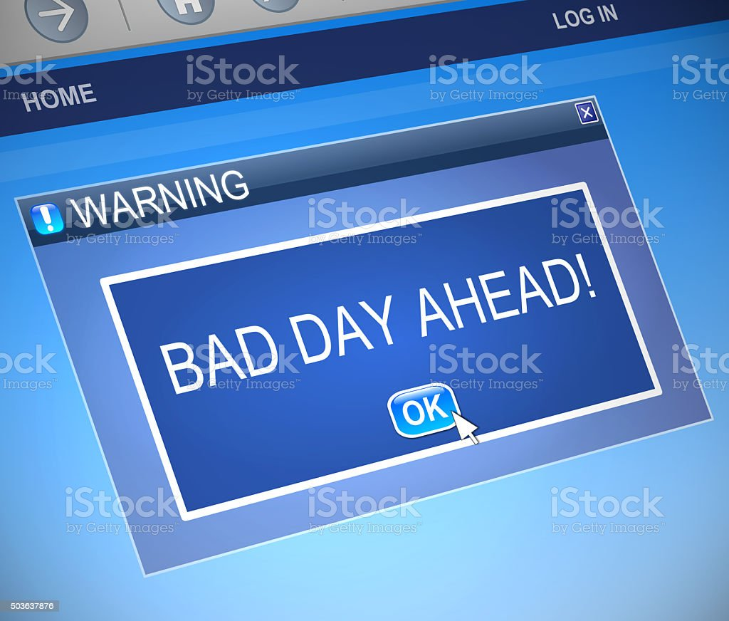 Bad day concept. stock photo