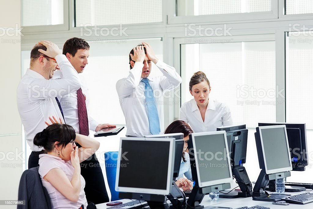 Bad Day in the Office royalty-free stock photo