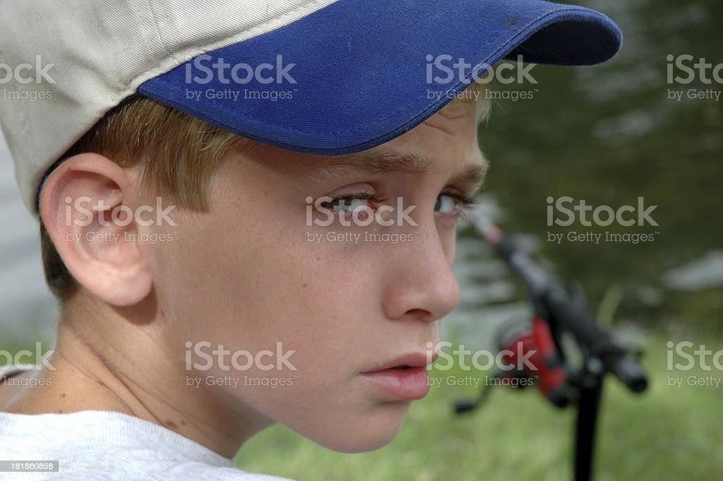 Bad Day of Fishing royalty-free stock photo