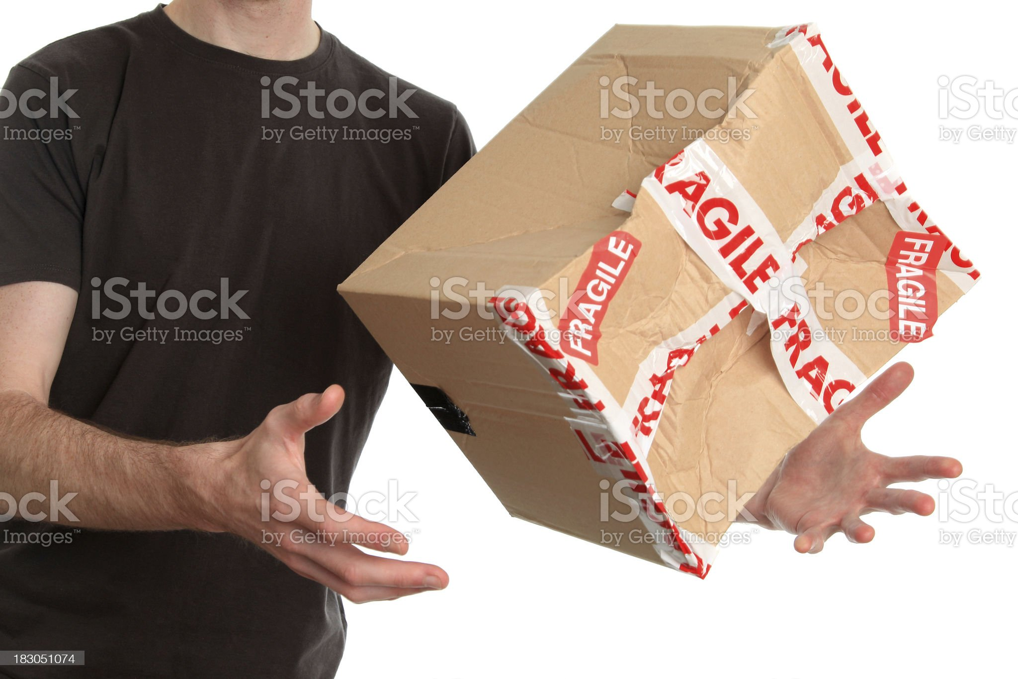Bad delivery royalty-free stock photo