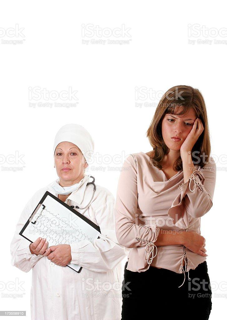 Bad diagnosis royalty-free stock photo