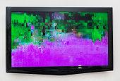 Bad digital signal on TV.