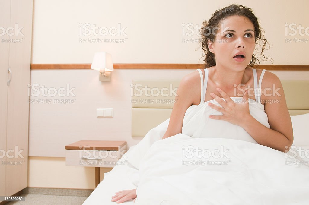 Bad dream stock photo