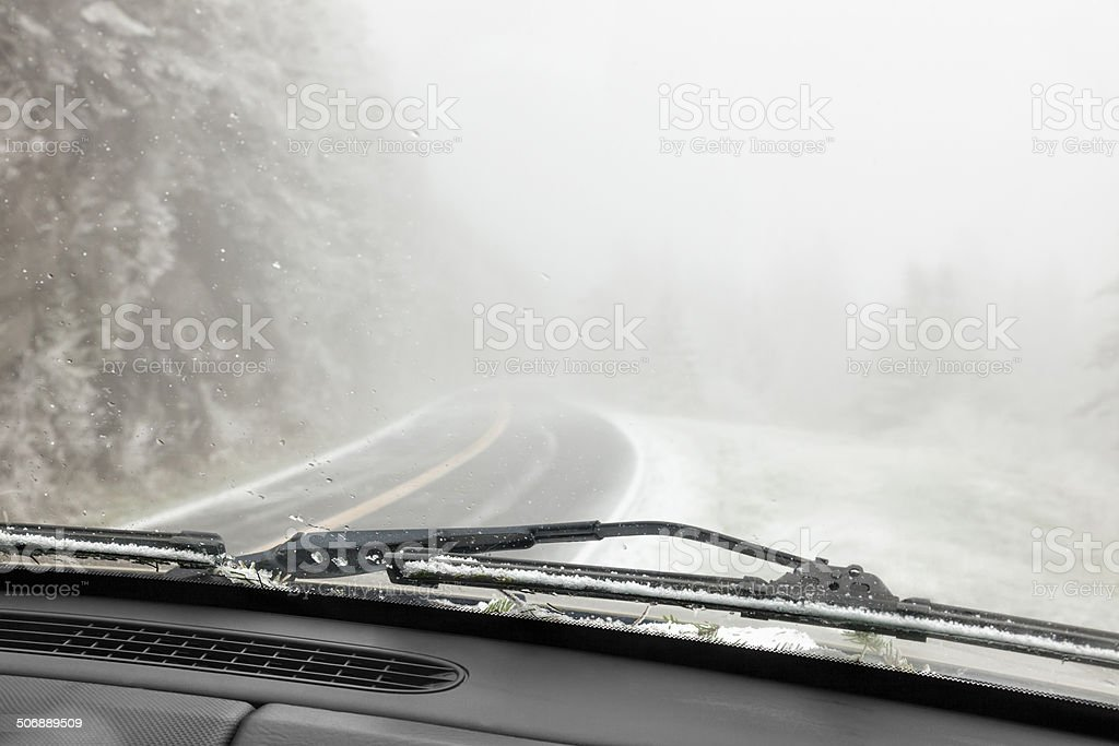 Bad Driving Conditions stock photo