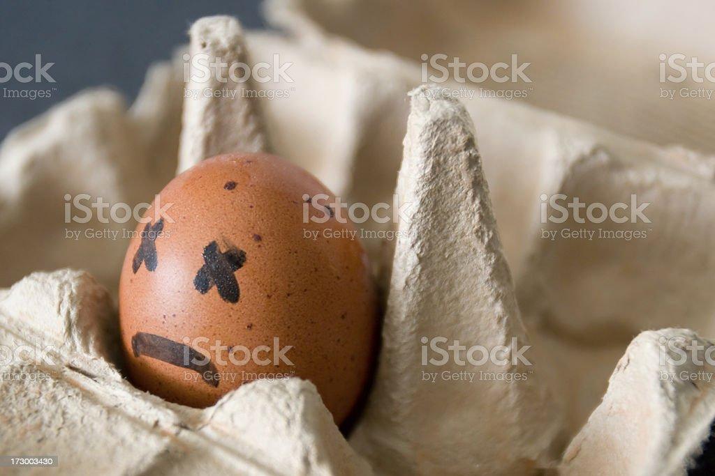 Bad egg royalty-free stock photo