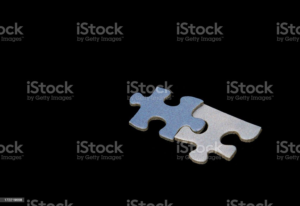 Bad Fit on Black Background stock photo